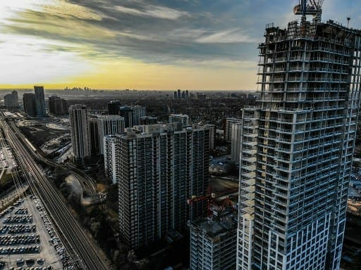construction aerial photography toronto